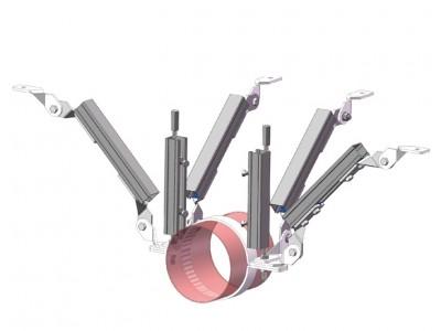 单管侧纵向抗震支架