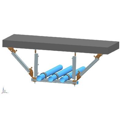 厂家直销  多水管侧向+纵向抗震支架